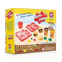 Brinquedos Menina Menino Massinha Modelar Hambúrguer Estrela