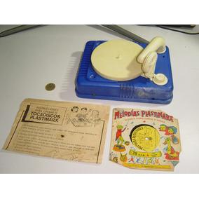 Juguete Antiguo Tocadiscos De Plastimarx Exhibir No Funciona