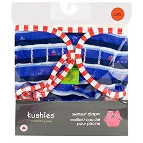 Kushies Swim Pañal, Azul Ahoy Impresión, Medio