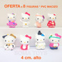 Adorno Torta Hello Kitty Figuras Cumpleaños Souvenir Muñecas