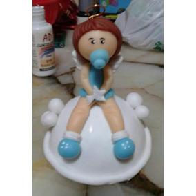 Souvenirs Angelitos Bautismo Nacimiento En Porcelana Fria