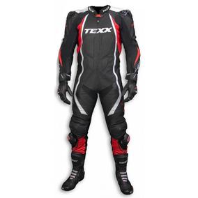 Macacão Couro Moto Texx Cronos Esportivo Track Day Alpine