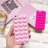 Funda Tpu Corazones Rosas Relieve 3d Iphone 6 6s 7 Plus