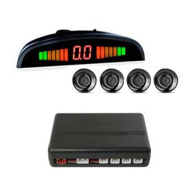 Sensor De Ré Orbe 4 Pontos Display Slim - Preto