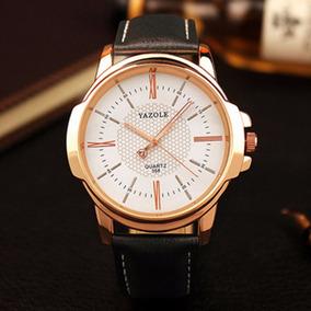 Relógio Masculino De Luxo Pulseira De Couro + Caixa C358
