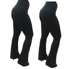 Flare Suplex Flanelado Grosso Cós Alto Legging Leg Bailarina