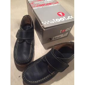 Zapato Tipo Nautico Excelente Estado Talle 33 Azul
