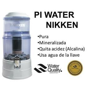 Nikken Piwater Filtro Agua Viva Regula Ph Ioniza Alcalina