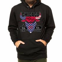 Moleton Blusa Casaco Frio Chicago Bulls Thug Life Swag Top