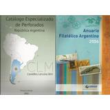 2 Libros Filatelia.perforados Comerciales + Anuario F.a.e.f
