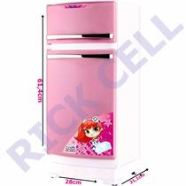 Geladeira Cozinha Infantil Rosa E Branca Meg Magic Toys
