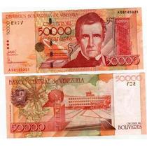 Billete De Venezuela 50.000 Bolivares Año 1998 Sin Circular