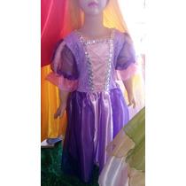 Vestido Disfraz Rapunzel Enredados Princesas Disney Hermoso!