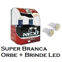 Lâmpada Super Branca H10 Orbe 5000k Mais Brinde Super Led