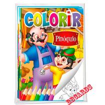 Coleção 8 Livros Para Colorir Clássicos Encantados Cinderela