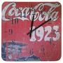 Relogio De Parede Quadrado Coca Cola 1923 Retro Decoração