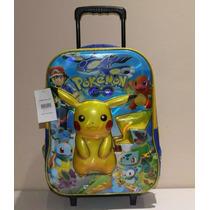 Mochila Rodinha Pikachu Pokemon Go 3d