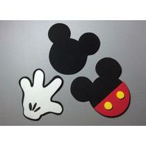 Apliques Em Eva Símbolos Do Mickey 15cm - Kit C.12 Unidades