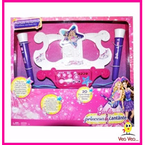 Microfono Barbie Con Base Duo - La Princesa Y La Popstar