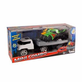 Caminhão Mini Combo Infantil Cabine Com 2 Motos Bs Toys