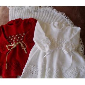 Saída Maternidade Tricot Conjunto 1 Manta 2vestidos E Calças