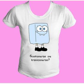 Camiseta Babylook Gola Canoa Halloween Bob Esponja 01