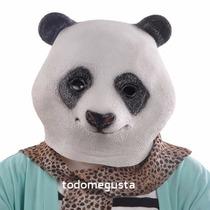 Máscara Cabeza De Oso Panda Disfraz Halloween Latex Panda