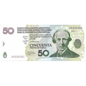 Billete Argentina Bono 50 Lecop Ec#209 Sin Circular Palermo