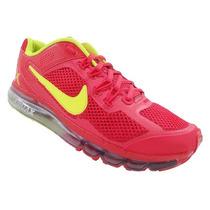 Tênis Nike Air Max 2013 Vermelho E Amarelo Limão