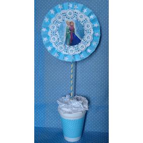 Centro De Mesa Frozen Hombre Araña Minnie Mickey Violeta