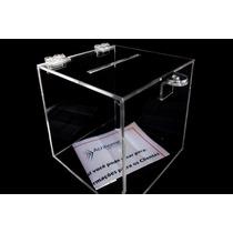 Urna Sorteio Acrilico Cristal Transparente