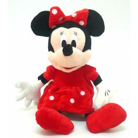 Boneco Pelucia Musical Minnie Vermellha 35cm Antialergico