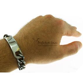 Pulseira Bracelete Algema Masculina Gourmet Pietro Aço