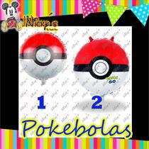 10 Globos Pokebola De Pokemon Y Pokemon Go De 18 O 45x45cm