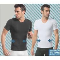 Camiseta T-shirt Con Mangas, Reductor Addomen Leonisa