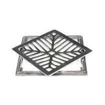 Grelha C/ Caxilho Aluminio 25x25 Cm