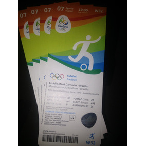 Ingressos Olimpíadas Fut. Masc. Brasília