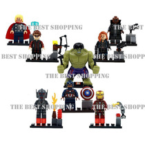 Set 8 Figuras Compatible Lego Superheroes Hulk Iron Capitan