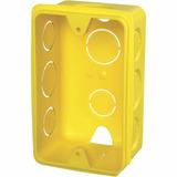 Kit 60 Caixa De Luz 4x2 Amarela Para Tomadas Com Conduite