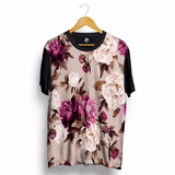 Camisa Floral Flor Verão Praia Personalizada Swag Blusa King