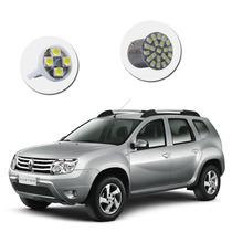 Kit Lâmpadas Led Cortesia Renault Duster Placa Farolete Teto