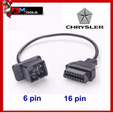 Cable Adaptador Obd 1 Chrysler 6 A 16 Pines Obd2