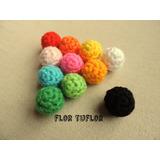 Pack X 5 Bolas Bolitas Pequeñas Pelotitas Tejidas Al Crochet