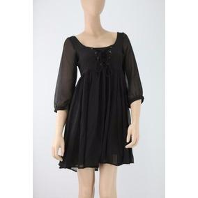 Vestido Corto Ona Sáez Negro Gasa Talle M-s