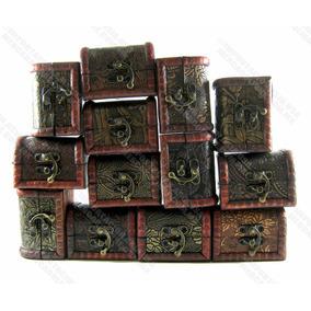 Cofre Baúl Tesoro Monedas Coleccionable Joyas Piedras Madera