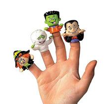 Vinilo Docena De Halloween Marionetas Del Carácter Finger (