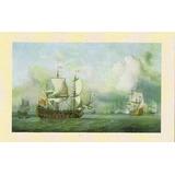 Lamina Anonima De Un Barco Antiguo English Indiaman, 24 X 30