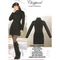 Elegante Abrigo Negro Talla 30 Envio Inmediato