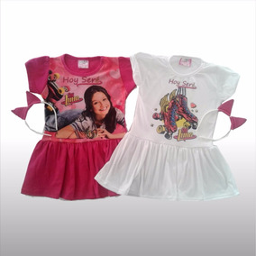 Remera Vestido Disfraz Nena Soy Luna De Disney Con Vincha
