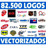 Pack 85 Mil Logotipos Vectorizados Serigrafía Diseño Vector